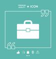 portfolio icon symbol vector image