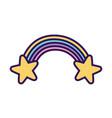 rainbow and stars decoration magic fantasy icon vector image