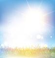 Retro grasssy landscape vector image vector image