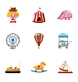 Rides icons set cartoon style vector image vector image