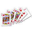 royal flush diamonds vector image vector image