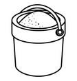 sand bucket isolated icon vector image