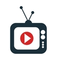 screen with live streaming video icon vector image vector image