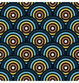 seamless pattern of semi circles vector image vector image