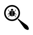 search bug icon vector image vector image
