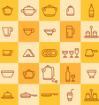 set of icons of different types of cookware vector image