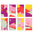 set valentines day abstract backgrounds vector image vector image