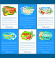 summer big sale banners set vector image vector image