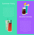 summer party alcohol drink poster with bloody mary vector image
