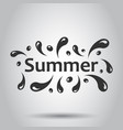 summer splash spray icon in flat style summertime vector image