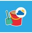 summer vacation design shovel bucket toy vector image