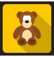 Teddy bear icon flat style vector image vector image