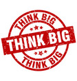 think big round red grunge stamp vector image vector image