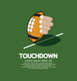 Touch Down American Football vector image vector image