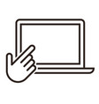 touch screen and hand pointer icon vector image