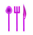 toy plastic set realistic tablewares rounded pink vector image vector image
