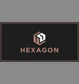 ud hexagon logo design inspiration vector image vector image