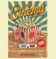 vintage cinema poster vector image