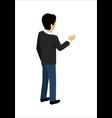 man shaking hands vector image