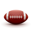 American Football ball isolated on white vector image