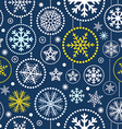 Christmas snowflakes seamless pattern vector image
