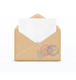open envelope and white paper vector image