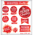 Watercolor Quality Badges red vector image