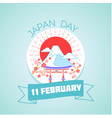 11 february japan day vector image vector image