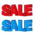 3D Sale vector image
