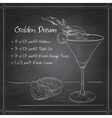 Alcoholic Cocktail Golden dream on black board vector image vector image