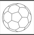 all white bootball vector image vector image