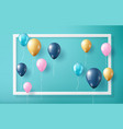 balloon on green background and frame vector image