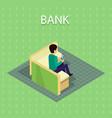 bank concept in isometric projection vector image vector image