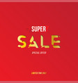 banner super sale with special offer template for vector image