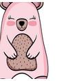 bear wild animal cartoon vector image