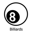 billiards icon simple black style vector image vector image