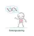 bioengineer thinks of human DNA vector image vector image