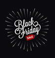 black friday logo star burst design background vector image