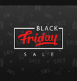 black friday sale banner background vector image vector image