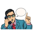Business boss talking on the phone vector image vector image