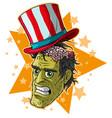cartoon halloween green zombie monster character vector image