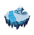 cartoon isometric icy island for game vector image vector image