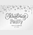christmas party poster template with hand vector image vector image