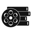 cinema reel icon simple style vector image vector image