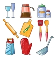 Cooking tools and kitchenware equipment vector image vector image