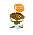 cute african american baby boy painting toddler vector image vector image