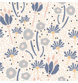 cutout style flowers seamless pattern vector image vector image