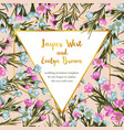 design floral flower card natural botanical vector image vector image