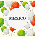 design of mexico vector image