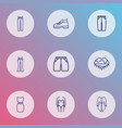 fashionable icons line style set with capris vector image vector image